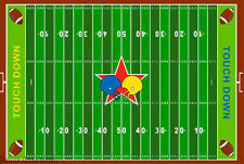 3x5 Sport Area Rug Football Field NFL Game Play Athletic Carpet Green Gridir NEW