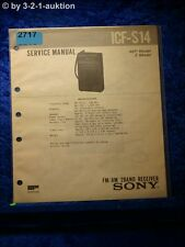 Sony Service Manual ICF S14 FM/AM 2 Band Receiver (#2717)
