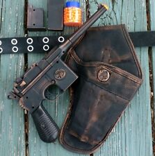 Steampunk Gun Holster Belt AIRSOFT BB pellet ZOMBIE toy mauser broomhandle c96