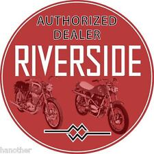 Vintage look Wards Riverside Benelli Authorized Dealer Decal Sticker