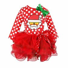 Toddler Kids Baby Girls Long Sleeve Clothes Christmas Party Pageant Tutu Dresses