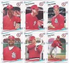 St. Louis Cardinals 1988 Fleer Update team set - Luis Alicea RC, Tom Brunansky +