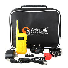 Dog Training E Collar Rechargeable Waterproof Remote Shock Vibrate Aetertek