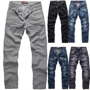 Herren Jeans Hose Rock Creek Herren Designer Denim Stretch Jeanshose M2 W29-W44