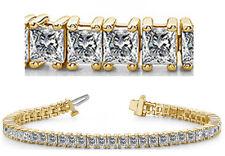 10 carat Princess cut Diamond Tennis Bracelet 18k Yellow Gold, 56 diamonds