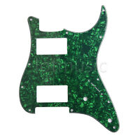 Electric Guitar Pickguard Scratch Plate For Fender Strat HH Green Pearl 3 Ply