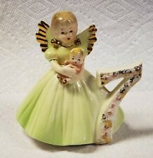 Vintage Josef Originals Birthday Angel Girl with Green Dress 7 Years Old 4""