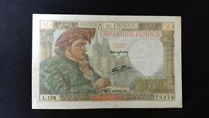 Billet de 50 Francs - Jacques COEUR - Banque de FRANCE - L.129 TTB