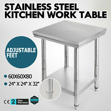 """24"""" x 24"""" Stainless Steel Work Prep Table Commercial Kitchen Restaurant 60X60X80"""