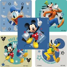 "20 Mickey Mouse Disney Pals Glitter Stickers, 2.5""x2.5"" ea, Party Favors"
