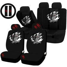 22PC Tiger Within Animal Inside Seat Covers Steering Wheel Set Universal Car SUV