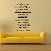 In This House We Do Disney Style Quote Rules Wall Art Stickers Decals Mural Kids