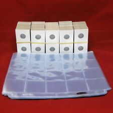 500 Cardboard 2x2 Mylar Coin Holders for Pennies / Cents with 25 Pocket Pages