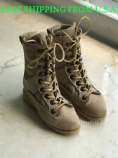 """1/6 Soldier Assault Combat Boots SAND For 12"""" Hot Toys Phicen Male Figure ❶USA❶"""
