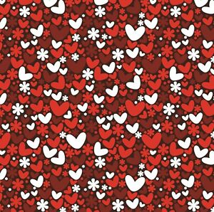 Valentines Day Wrapping Paper,The One I Love,Red Roses,Beautiful Heart Gift Wrap
