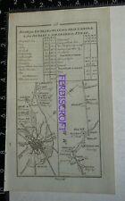 1778 Taylor & Skinner Strip Map Ireland -Dublin, Trim, Athboy,Dunboyne Church