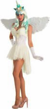 White Unicorn Corset Adult Womens Costume Accessory Faux Fur Fantasy EDC