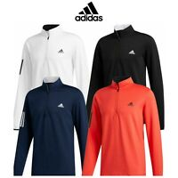 adidas Golf 3-Stripes 1/4 Zip Midlayer Sweater Pullover Sports Top New For 2020