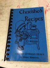 Vintage Spiral Cookbook Cherished Recipes Calvary Lutheran Church St Hilaire Mn