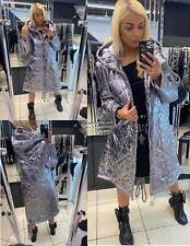 Gorgeous Women's Warm Jacket Coat Paparazzi Fashion L/XL Silver