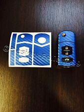 Carbon blau Folie Schlüssel Mazda RX8 NC 2 3 5 6 MX5 SL CX 7 CX  9 uvm