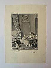 Eau-Forte, Règle de la nature, Simonet d'après Moreau pour J.J Rousseau, XVIIIè
