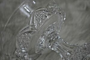 Vintage Collectible Rare Depression Glass Clear Desert Sherbet Candy Dish