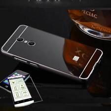 Pare-chocs en aluminium 2 pièces noir + 0,3 H9 verre pour Sony Xperia XA2