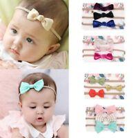 3pcs Kids Baby Boys Girls Cute Headband Hair Band Bowknot Headwear Accessories