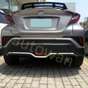 Chrome Rear Bumper Bottom Cover Trim for 2016-2019 Toyota C-HR Protector abs
