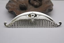New Solid 999 Sterling Silver Comb Phoenix Design Hair Comb 118mm L