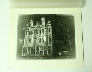 Vintage Haunted Creepy House Art Photo Matted Halloween Weird Unusual 8x10 Pic