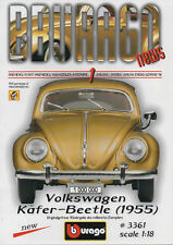 Bburago-News-Januar 1998-Volkswagen-Käfer-Beetle (1955)-Quality Made in Italy