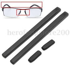 A Set Silicone Cover Temple Tips Pad Black For ic! Berlin Glasses Frame Black