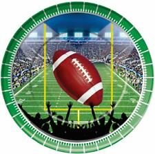 """Football Sports Super Bowl Watch College Theme Party 9"""" Paper Dinner Plates"""