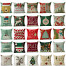 Stylish Christmas Cotton Linen Pillow Cushion Covers Pillowcase Pillow Protector