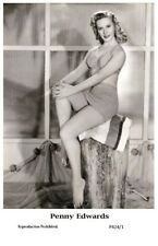 PENNY EDWARDS - Film star Pin Up PHOTO POSTCARD- Publisher Swiftsure 2000 (P424/