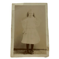 Antique Cabinet Card Photograph Sweet Child Victorian Little Girl Maud