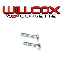 Corvette Inside Mirror Mount Bracket Screw Set 2 pc 68-76 correct screws coupe