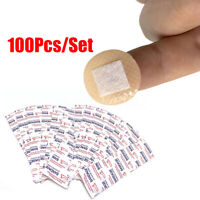 100Pcs/Box Mini Round Disposable ~l Adhesive Bandage Band-Aid Wound