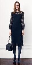 BRAND NEW Tory Burch Tiana Sheath Lace Black Cocktial Dress Size XS Retail$425
