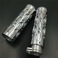 """Chrome 1"""" Hand Grips For Nomad Drifter Vulcan 1600/ Harley FXDL Dyna Low Rider"""