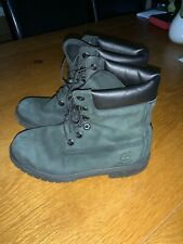 "WOMENS BLACK TIMBERLAND 6"" LEATHER BOOTS SIZE UK 5.5 Eu 38.5"