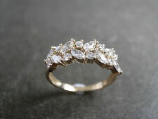 Marquise Diamond Engagement Ring Wedding Band 1.60 Ct Yellow Gold Plated D/Vvs1