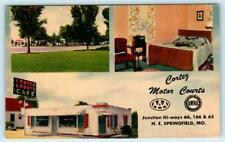 SPRINGFIELD, Missouri MO ~ Route 66 CORTEZ MOTOR COURTS Roadside 1940s  Postcard