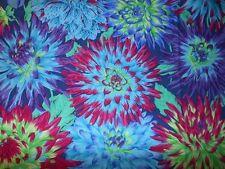 Fat Quarter Kaffe Fassett Cactus Dahlia - BLUE - 100% Cotton Quilting Fabrics