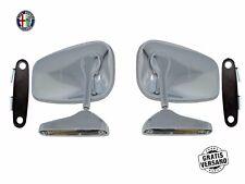 ALFA ROMEO SPIDER GIULIA GT 2000 Set 2x SPECCHIETTI MIRRORS LH RH OVALE no logo