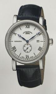 MÜHLE Glashütte Teutonia III Handaufzug Herrenuhr Kleine Sekunde mit Datum