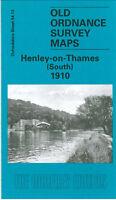 OLD ORDNANCE SURVEY MAP HENLEY ON THAMES SOUTH 1910 READING ROAD HARPSDEN