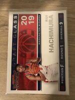 2019-20 Panini NBA Contenders Draft Class Rookie RC #9 Rui Hachimura Wizards